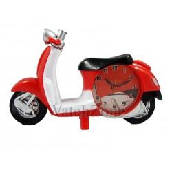 Ceas cu alarma scuter rosu Moto Clock XL1302-2