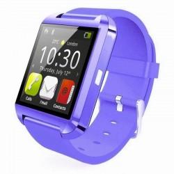 Smartwatch Techstar® U8, Bluetooth, 1.54inch LCD, Butoane Capacitative, Purpuriu