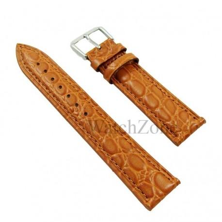Curea ceas maro piele naturala 20mm
