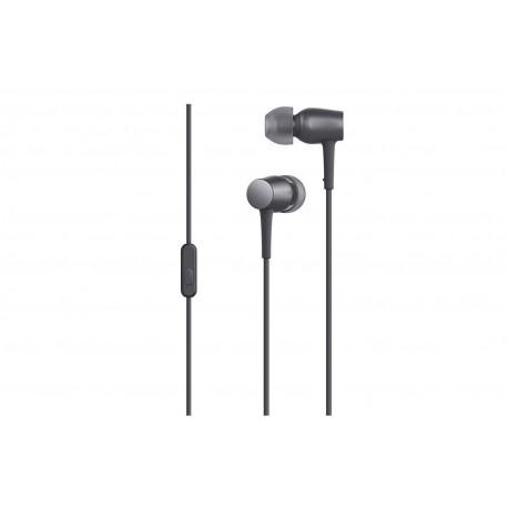 Casti Handsfree Metalice Extra Bass In-Ear Gri Audio Stereo cu Microfon C195