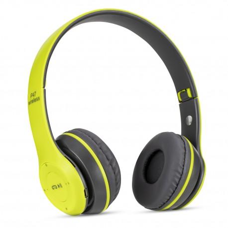 Casti wireless MRG P47 Verde cu bluetooth microfon C292
