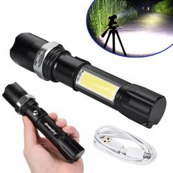 Lanterna SWAT MRG M-256, LED 3W CREE Q5, Cu lampa COB, Metalica C256