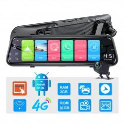 "Camera Auto Dubla Tip Oglinda Techstar® Z9 Plus, Android 8.1, 4G si WiFi, 9.66"" IPS Touch Full HD, Hotspot, ADAS, GPS, Modulator FM, Car Assist"