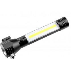 Lanterna LED de Urgenta Auto Reincarcabila Cu Cutter si Ciocan C309