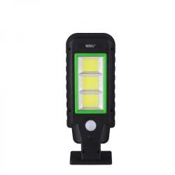 Lampa solara stradala MRG A-HS-8011D, Panou solar, 120 LED, Negru C398