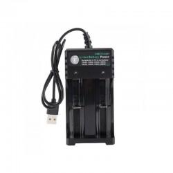 Incarcator dublu USB pt acumulator 18650, 4.2V 1000mA C201