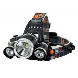 Lanterna cap reincarcabila MRG P-353, 3x LED Cree XML T6, Aluminiu, 2x Acumulatori C353