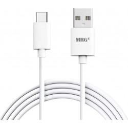 Cablu de date Type-C MRG L-411, Fast Charge, 5A, Alb C411