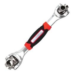 Cheie universala MRG M-474, 48 in 1, Multifunctionala, Rotire 360 grade, Negru / Rosu C474