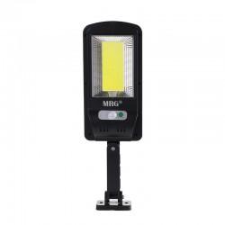 Lampa solara stradala MRG M-6037, Panou solar, 100 LED Cob, Negru C527