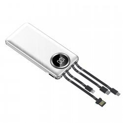 Baterie Externa Power Bank MRG M-492, 12.000 mAh, 3 in 1, Ecran LCD, Alb C494