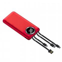 Baterie Externa Power Bank MRG M-492, 12.000 mAh, 3 in 1, Ecran LCD, Rosu C493