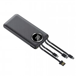 Baterie Externa Power Bank MRG M-492, 12.000 mAh, 3 in 1, Ecran LCD, Negru C492