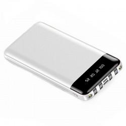 Baterie Externa Power Bank MRG M-486, 12.000 mAh, 3 in 1, Display LCD, Alb C488