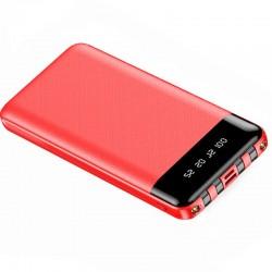 Baterie Externa Power Bank MRG M-486, 12.000 mAh, 3 in 1, Display LCD, Rosu C487