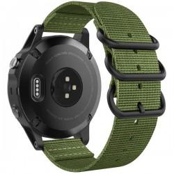 Curea iUni compatibila cu Garmin Forerunner 220/230/235/620/630/735, 22 mm, Soft Nylon Green