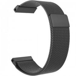 Curea iUni compatibila cu Garmin Fenix 5X, 26 mm, Milanese Loop Belt, Black