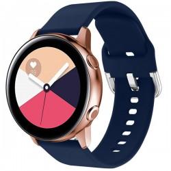 Curea iUni compatibila cu Samsung Watch Gear S2, 20 mm, Silicon Buckle, Midnight Blue