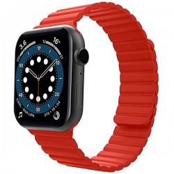 Curea iUni compatibila cu Apple Watch 1/2/3/4/5/6, 38mm, Silicon Magnetic, Red