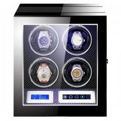 Cutie pentru intors ceasuri automatice iUni, Luxury Watch Winder 4 Carbon