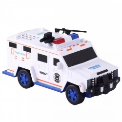 Pusculita Electronica MRG M-6688-19, Masina de politie, Cu PIN, Alb C529
