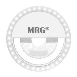 Lanterna Inel Selfie MRG M-429, Reincarcabil, Pentru telefon, Alb C429