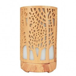 Umidificator aromaterapie, lumina led 7 culori, model copaci