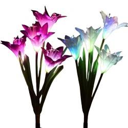 Lampa de Gradina Flower,Floare Iluminata ,Solara ,Terasa,Curte