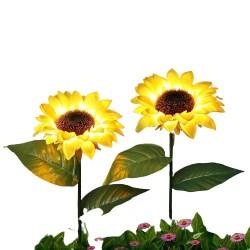 Floarea Soarelui,Iluminata,Solar Gradina .Lampa de Gradina,Terasa,Curte