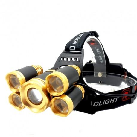 Lanterna cap reincarcabila MRG P-388, 5x LED, Rezistenta la apa, 2x Acumulatori C388