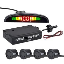 Senzori de parcare MRG MTMPS, Universali, Cu display LED, Negru C553