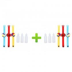 Pachet 1+1 Bratara cu Dispenser,Dezinfectant Maini,Reglabila,Copii,Adulti+Cadou Sticla pentru Dezinfectant