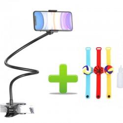 Suport Telefon Flexibil, Cu Clema,Universal Compatibil ,Roz, Alb, Albastru, Negru+Cadou Bratara Cu Dispenser,