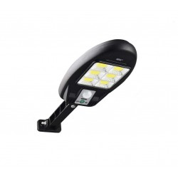 Lampa solara MRG MCL180, 48 LED Cob, Panou solar, Senzor de miscare, Negru C566
