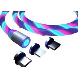 Cablu Incarcator Magnetic,Telefon cu 3 Capete si Cablu Iluminat