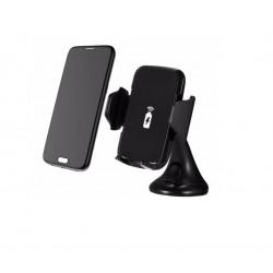 Incarcator Wireless Auto, Prindere Prin Ventuza, Fast Charge, Rotire 360 Grade