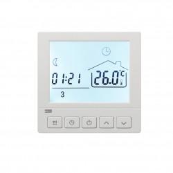 Ambient Termostat Techstar® Smart TH-8W, Wireless, 16A, 3500W, Google Home, Alexa, Tuya, Senzor Pardoseala, Alb
