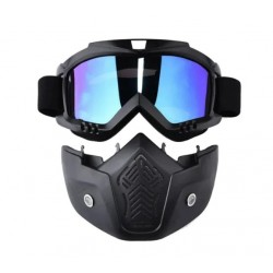 Masca Protectie Fata ATV, Moto, Cross, Ski, Snowboard, Ochelari detasabili, Ultra Confortabila