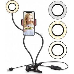 Live streaming kit, telecomanda, 3 moduri iluminare