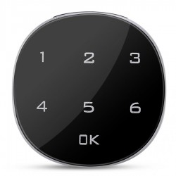 Incuietoare Inteligenta Techstar®, Touch Screen Digital, 30mm, Alarma, Cod, Alimentare Urgenta