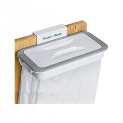 Suport suspendat pentru pungi de gunoi, cu capac, nu necesita prindere