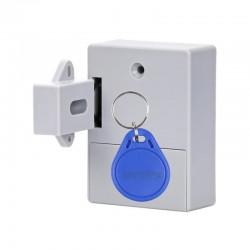 Incuietoare Inteligenta Techstar®, EMID IC, Digital, Discret, Deblocare cu card RFID, Control Acces, Gri