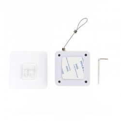 Inchizator automat Techstar®, Alb, Franghie de Otel P12, Pentru Usi, Geamuri, Alb
