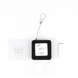 Inchizator automat Techstar®, Alb, Franghie de Otel P12, Pentru Usi, Ferestre, Negru