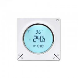 Ambient Termostat Techstar® Smart TH-12W, Wireless, 16A, 3500W, Google Home, Alexa, Tuya, Senzor Pardoseala, Alb