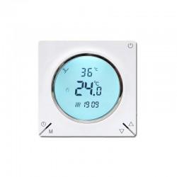Ambient Termostat Techstar® TH-12, Ecran Digital, Incastrabil, 16A, 3500W, Alimentare 220V, Senzor Pardoseala, Alb