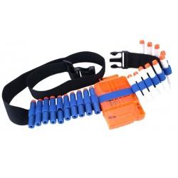 Set accesorii compatibile, pentru arme de jucarie Nerf N-Strike, magazie, curea, 30 rezerve