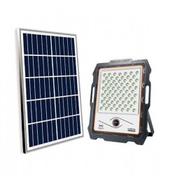 Proiector LED 100 W cu panou solar, card de memorie si camera de supraveghere
