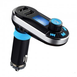 Modulator FM Techstar® BG02, Car Kit Bluetooth si MP3, Incarcator Auto, Doua Porturi USB, AUX in