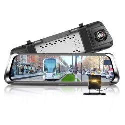 "Camera Auto Tip Oglinda Techstar® B30, Dubla, LCD 10"" Inch Touch Screen, 2K, 1440P + 1080P, H265, Night Vision, Camera Marsarier"